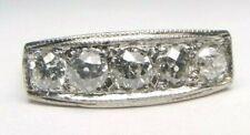 Antique Art Deco Vintage Diamond Engagement Platinum Ring Size 7 UK-N1/2 EGL USA