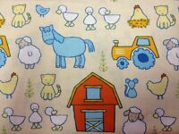 Farm Yard Friends animals 100% cotton fabric by the yard