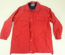 VTG Woolrich Parka Coat Made in USA Large L Red Jacket Lining Copper Nylon Rain