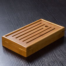 Mini Portable Bamboo Serving Water Tray for Gongfu Tea Ceremony 22x11.5cm