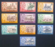 POLAND STAMPS MNH 1Fi747-56 Sc647-56 Mi889-96- POLISH PEOPLE'S REPUBLIC,1954, **
