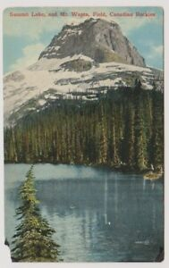 Canada postcard - Summit Lake and Mt. Wapta, Field, Canadian Rockies, B.C (A62)