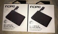 Brand New Incipio USB-C Digital AV Multiport Adapter WM-PW-264-BLK Apple MacBook
