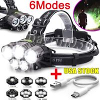 Rechargeable 350000LM 5X  LED Headlamp Super Bright Flashlight Headlight Lamp