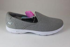 Skechers Go Step Solution Gray/White 14317/GYW Brand New!!! Goga Mat Technology
