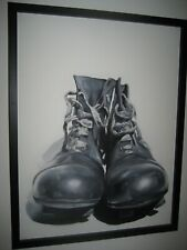 """Roni Stretch, British Artist (1994) Original Oil Painting on Canvas """"Old Boots"""""""
