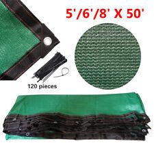 5'/ 6' /8' Fence Windscreen Privacy Screen Shade Cover Fabric Mesh Tarp, Green