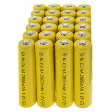 24pcs Rechargeable NiCd AA 2800mAh Ni-Cad Batteries for Solar-Powered Light CA