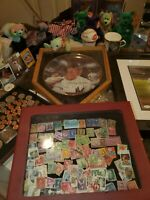 Estate Mixed Stamp, coin , collectable items , misc . Disney tapes , GRAB BAG
