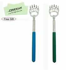 (2- Pack) Lemeng Portable Extendable Telescopic Bear Claws Metal Back Scratch.