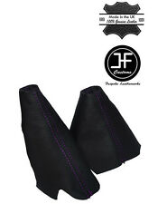 PURPLE STITCH LEATHER HANDBRAKE HI-LOW TRANSFER GAITERS FOR LAND ROVER DISCOVERY