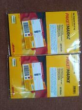 20 DHL Paketmarken 5 Kg Frankiert