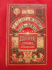 CARTONNAGE Secret de Storitz & Hier et demain par Jules VERNE HETZEL  1910