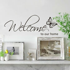 New Butterfly Welcome To Our Home Wall Art Decal Quote Home Decor Wall Sticker