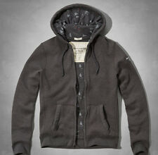 New Abercrombie & Fitch Haystack Mountain Hoodie Dark Heather Grey, size XL
