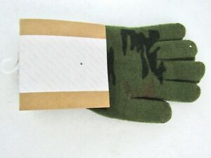 NEW URBAN OUTFITTERS MEN'S CAMO TOUCHSCREEN GLOVES S