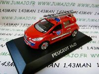 Voiture 1/43 altaya / norev concept car : PEUGEOT H2O pompiers pile combustible
