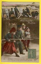 """cpa France Miltaria GUERRE 1914 Enfants Soldat """"NOS FUTURS POILUS"""" Arme Fusils"""