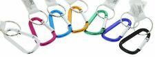 "7 piece 2-3/4"" (70mm) Aluminum Carabiner D-Ring Key Chain Clip Hook Color"