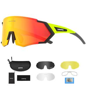 Polarized Cycling Sunglasses UV400 Eyewear Outdoor Bike Riding Sports Glasses