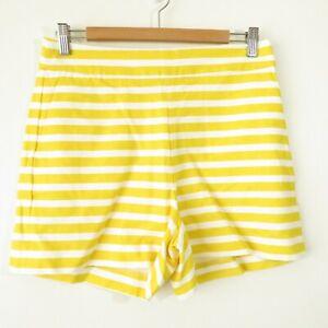 NWT J Crew Yellow Striped High Waist Shorts Style AL596 Women's Sz 6