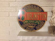 Chicago Burlington and Quincy RailRoad Sign New Heavy Steel
