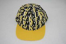 ARMANI EXCHANGE Yellow Black Cotton Adjustable Logo Print Hat AX Summer NEW