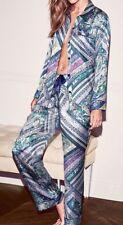 Victorias Secret Afterhours Silky Satin BLUE DIAMOND Pajama Set Pajamas NWT M