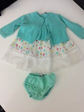 Catimini 3 Piece Outfit Set Dress , Cardigan , Knickers Age 6m / 68 Months