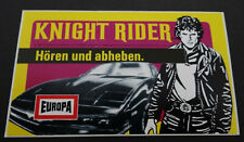 Aufkleber EUROPA Knight Rider David Hasselhoff Hörspiel-Cassetten 1982 Sticker 2