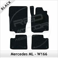 Tailored Carpet Floor Mats for MERCEDES ML W166 Mk3 2011 onwards BLACK