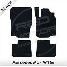 Tailored Carpet Floor Mats for MERCEDES ML W166 Mk3 2011 onwards BLACK