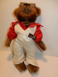 VINTAGE ORIGINAL BRASS BUTTON TEDDY BEAR 1970s SATURDAY NIGHT FEVER 20TH CENTURY