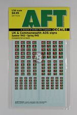 Archer 1/35 UK / CW AOS Signs for Royal Army Service Corps (1943 - 1945) AR77034