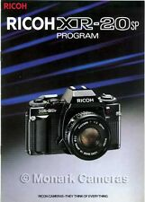 Ricoh XR20sp Camera & Rikenon Lens Sales Brochure. More Catalogues Listed.