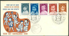 SURINAME CHILDREN FDC 1963 VF