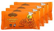 King David Vegan Caramel Chips Non-dairy Lactose Free Kosher 250g (Pack of 4)