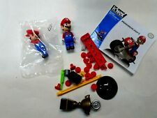 2014 Knex Mario Kart 2 Mario Figures(1 Sealed),trophy & Spare Parts Lot*
