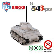 Custom LEGO Moc Tank Sherman M4 USA Army WW2 ONLY Instruction VideoPDF TManual