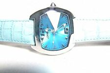 LOVELY CHRONOTECH EUROPEAN DESIGNER LADIES BLUE WATCH WITH BLUE LEATHER STRAP