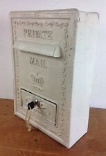 Vintage Cast Iron Metal Letter Post Box Wedding Gifts Not Royal Mail Old Private