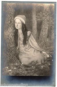 AK Fidus Nr.33: Tochter des Künstlers , nicht gelaufen, um 1910