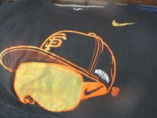 Black SAN FRANCISCO GIANTS 2014 World Series Gold Goggles Logo T Shirt XL Nike