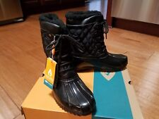 Womens Sporto Dorothy Duck Boot   Black  Waterproof  Thermalite  SZ 7  $100  NEW