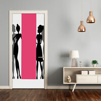 Self adhesive Door Wall wrap removable Peel & Stick People Women's silhouettes