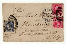 USA 1893 Cover from EICHTH ST. STA PHILADELPHIA Pa to Germany