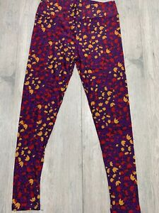 Lularoe TC Leggings BRAND New Purple W Flowers