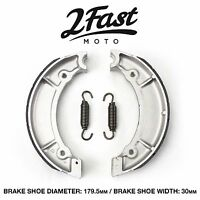 2FastMoto Yamaha Front Brake Shoes Grooved DS6 DS7 RD250 RD350 XS400 R3 R5 NEW