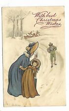 Artist Signed K. COWDEREY Merry Christmas postcard