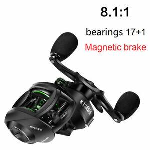 Latest Fishing Reel 8kg Resistance 8.1:1 Gear Ratio High Speed Left Right Ha.bu